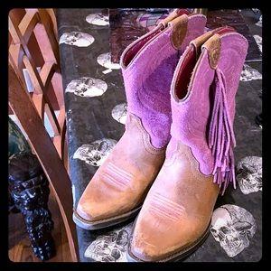 Kids ariat fringe cowboy boots